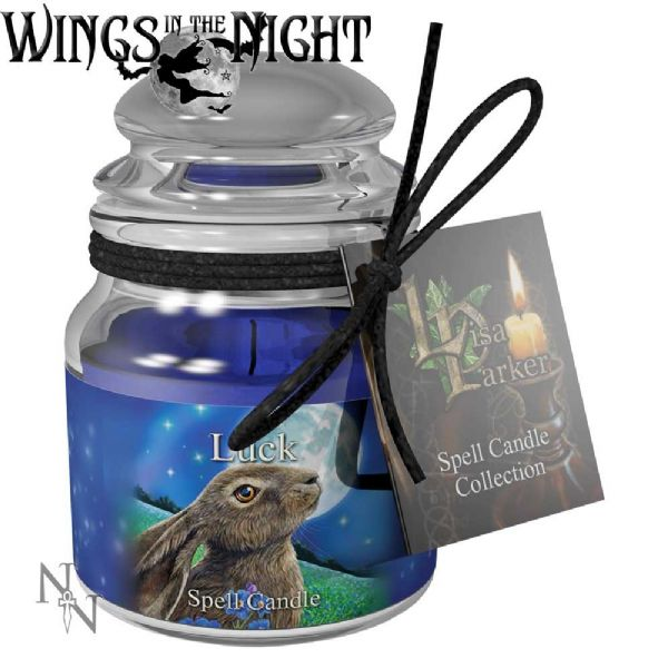 Lisa Parker LUCK Spell Candle Jar by Nemesis Now